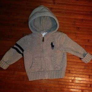 6 Month Ralph Lauren Hooded Sweater with Pockets